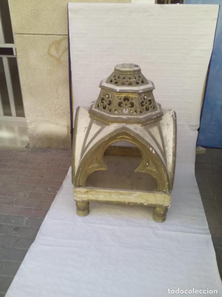 Antigüedades: Capilla u Hornacina de madera policromada - Foto 3 - 221130272