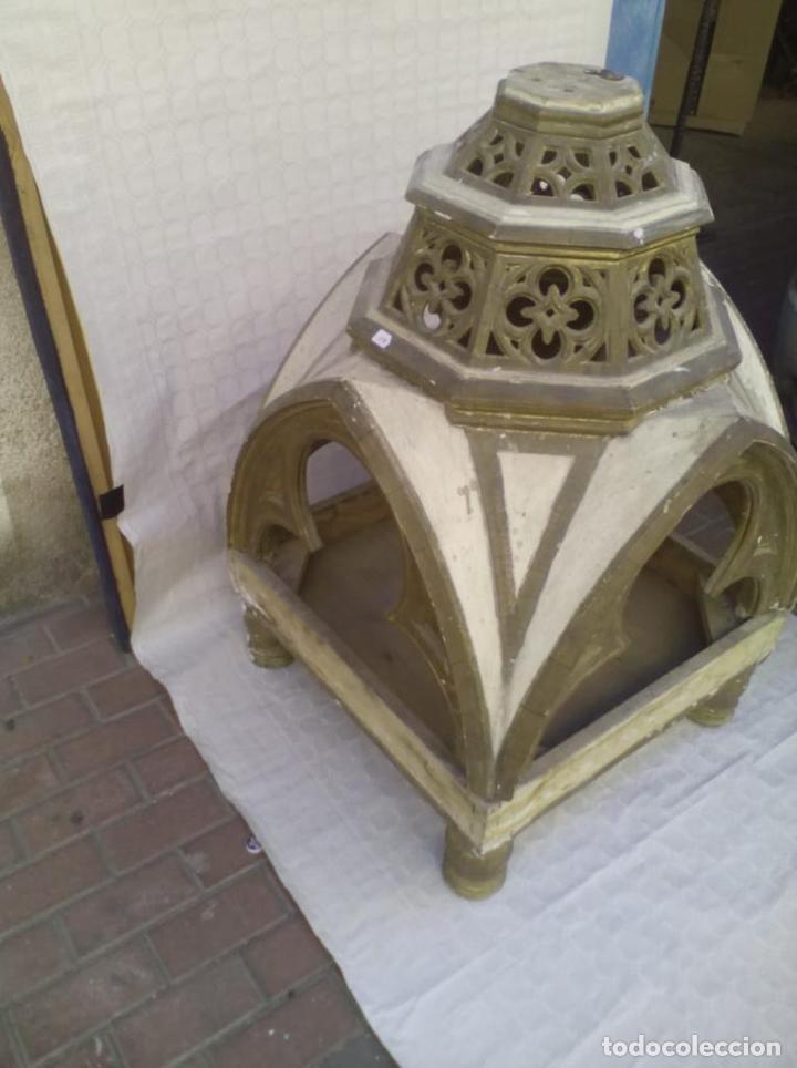 Antigüedades: Capilla u Hornacina de madera policromada - Foto 4 - 221130272