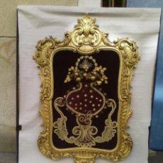 Antigüedades: MARCO CORNUCOPIA DORADA EN SIMIL DE MADERA EN PAN DE ORO. Lote 221131115