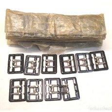 Antigüedades: LOTE MÁS DE 50 HEBILLAS PEQUEÑAS, NUEVAS RESTO MERCERIA. Lote 221141622