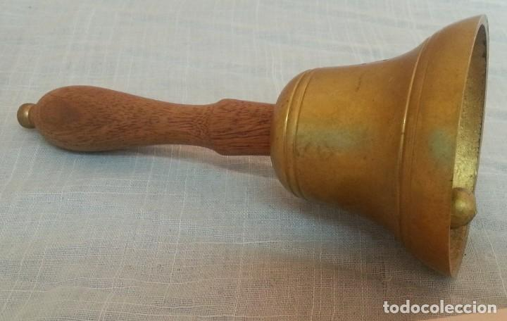 Antigüedades: Campanilla de mesa. Estilo vintage. Mango de madera - Foto 6 - 221148608
