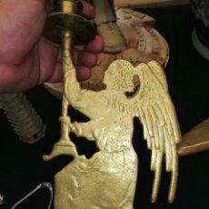 Antigüedades: PALMATORIA ESCULTURA ANGEL PIEZA DE IGLESIA. Lote 221157452