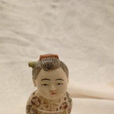 Antigüedades: ANTIGUA FIGURA JAPONESA DE PASTA?? . GRAN CALIDAD. Lote 221170688