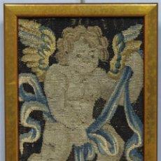 Antigüedades: ANTIGUO FRAGMENTO DE TAPIZ DE QUERUBIN O ANGELOTE. SIGLO XVII. Lote 221227070