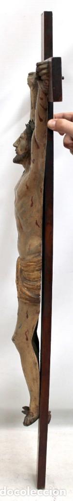 Antigüedades: IMPORTANTE CRISTO EN HIERRO POLICROMADO DEL SIGLO XVIII - Foto 3 - 221231060