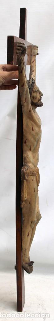 Antigüedades: IMPORTANTE CRISTO EN HIERRO POLICROMADO DEL SIGLO XVIII - Foto 4 - 221231060