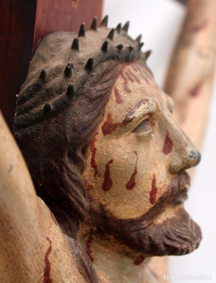 Antigüedades: IMPORTANTE CRISTO EN HIERRO POLICROMADO DEL SIGLO XVIII - Foto 7 - 221231060