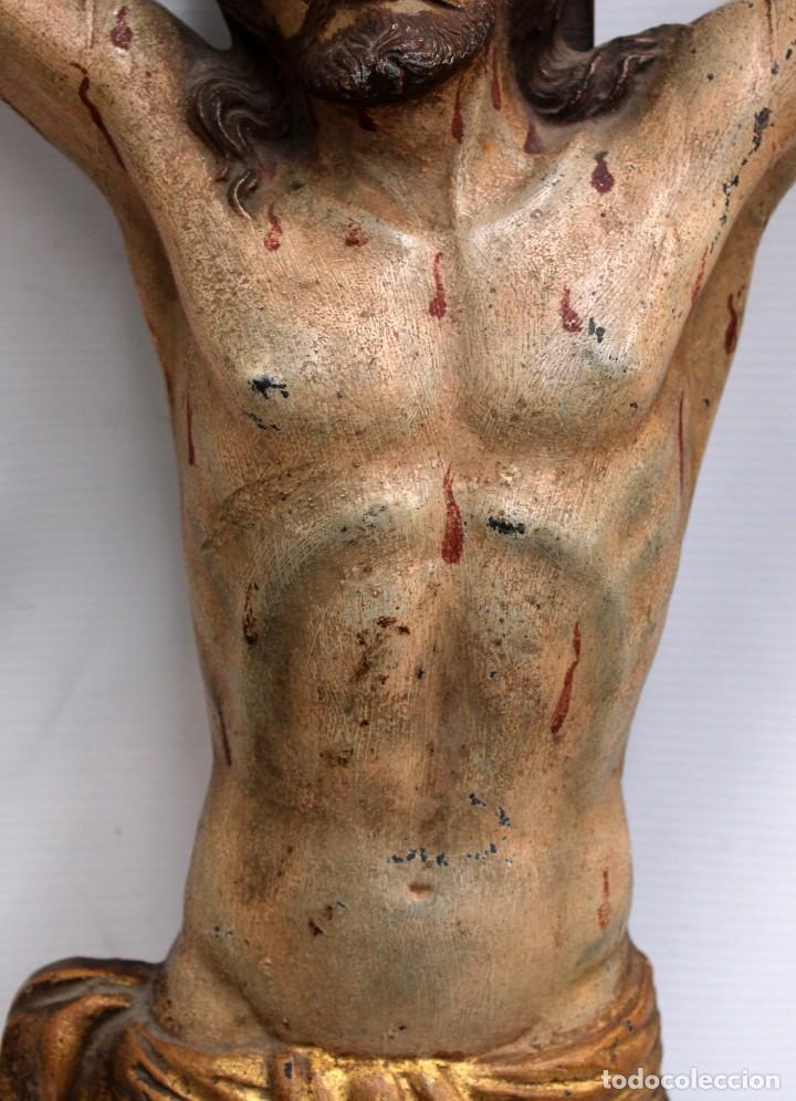 Antigüedades: IMPORTANTE CRISTO EN HIERRO POLICROMADO DEL SIGLO XVIII - Foto 8 - 221231060