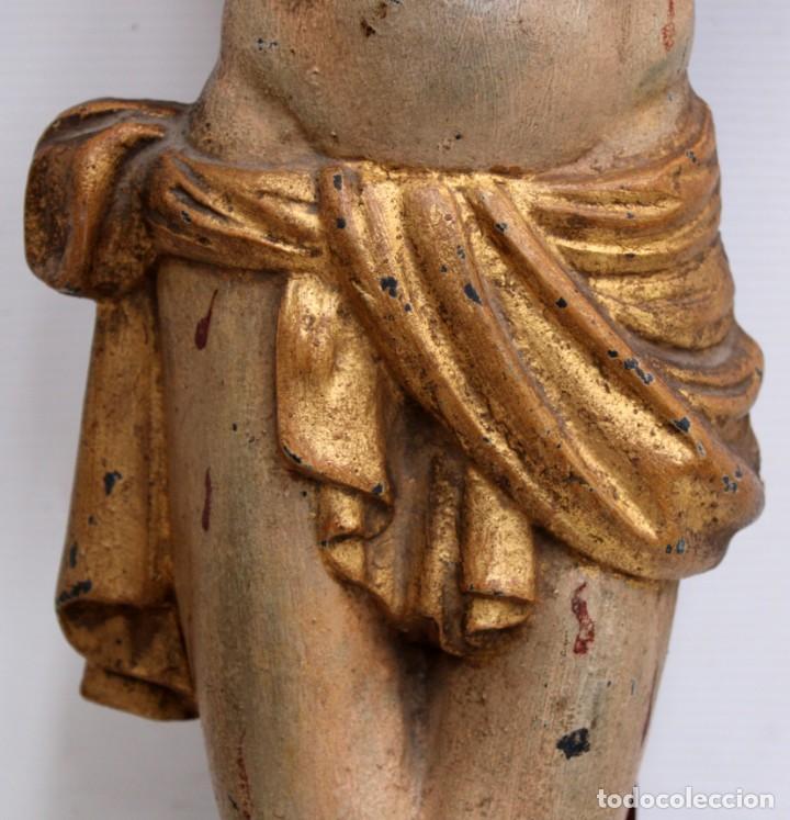 Antigüedades: IMPORTANTE CRISTO EN HIERRO POLICROMADO DEL SIGLO XVIII - Foto 9 - 221231060