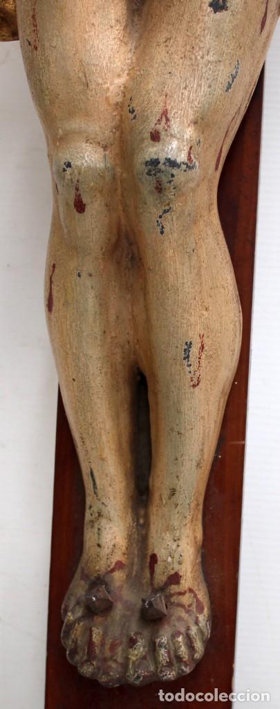 Antigüedades: IMPORTANTE CRISTO EN HIERRO POLICROMADO DEL SIGLO XVIII - Foto 12 - 221231060