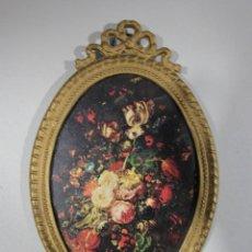 Antigüedades: FLORES MARCO BRONCE. Lote 221238030