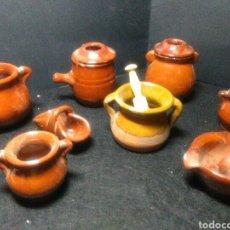 Antigüedades: PRECIOSO LOTE DE MINI CERAMICA VIDREADA ,PARA BELENES O COMPLEMENTOS. Lote 221244565