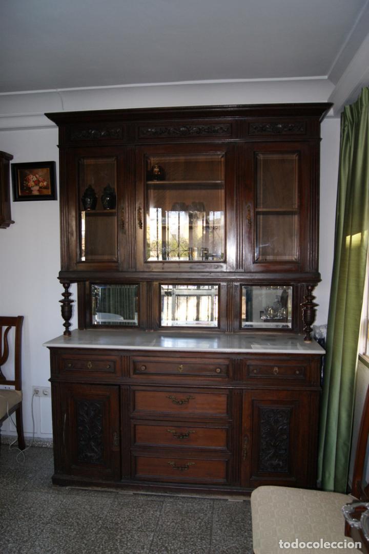 Antigüedades: Antiguo aparador principios siglo XIX - Foto 2 - 221250696