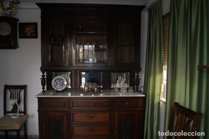 Antigüedades: Antiguo aparador principios siglo XIX - Foto 7 - 221250696