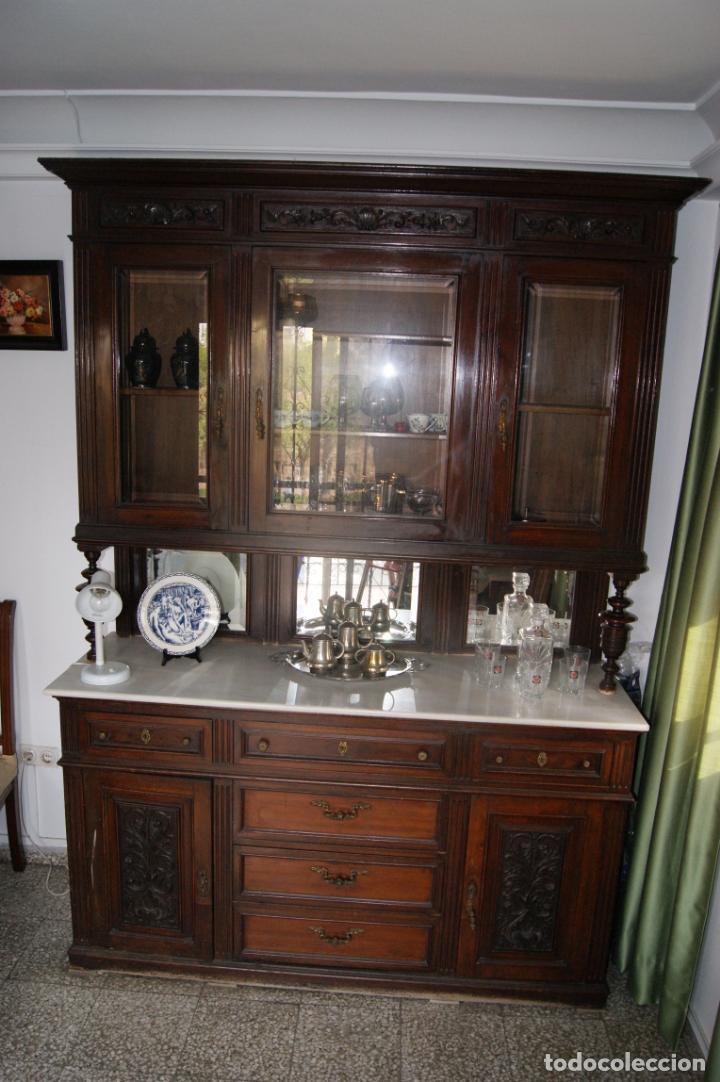 Antigüedades: Antiguo aparador principios siglo XIX - Foto 8 - 221250696