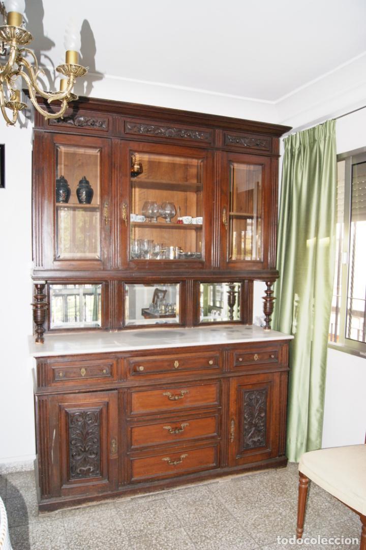 ANTIGUO APARADOR PRINCIPIOS SIGLO XIX (Antigüedades - Muebles Antiguos - Aparadores Antiguos)