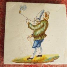 Antigüedades: AZULEJO DE FIGURA VALENCIA SIGLO XVILL. Lote 221254465