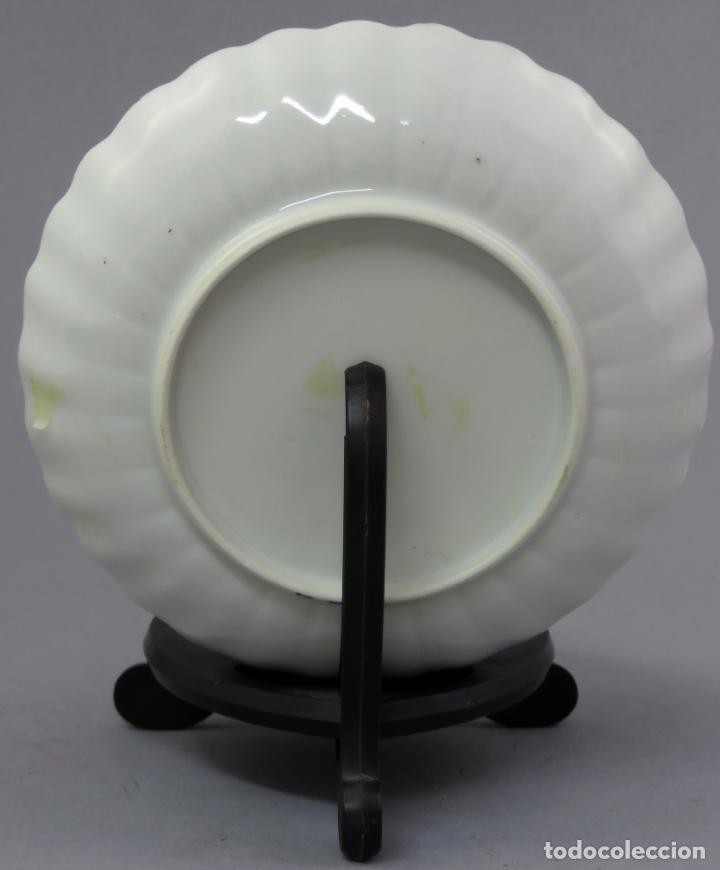Antigüedades: Plato y cuenco porcelana Compañía de Indias en grisalla y oro periodo Qianlong finales siglo XVIII - Foto 5 - 221256008