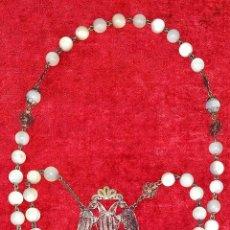 Antigüedades: ROSARIO ISABELINO. FILIGRANA DE PLATA. NÁCAR. ESPAÑA. CIRCA 1850. Lote 221261198