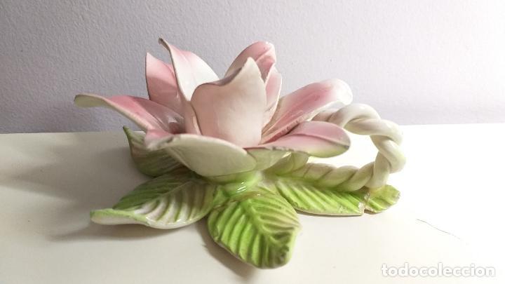 Antigüedades: Centro de mesa en forma de flor. Flor decorativa. - Foto 2 - 221268645