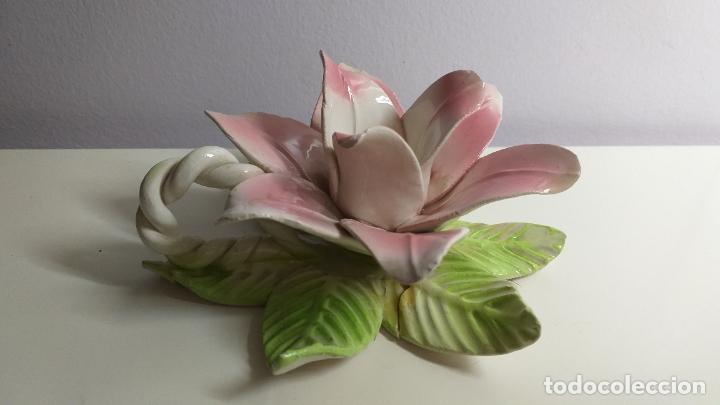 Antigüedades: Centro de mesa en forma de flor. Flor decorativa. - Foto 5 - 221268645