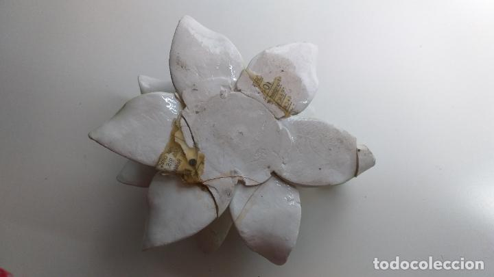 Antigüedades: Centro de mesa en forma de flor. Flor decorativa. - Foto 8 - 221268645