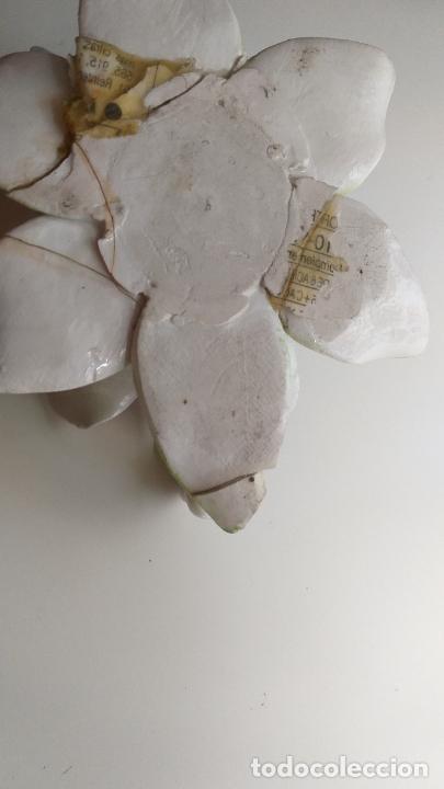 Antigüedades: Centro de mesa en forma de flor. Flor decorativa. - Foto 10 - 221268645
