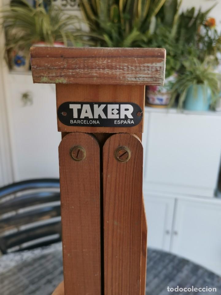 CABALLETE TRÍPODE ANTIGUO DE PINTOR TAKER (Antigüedades - Varios)