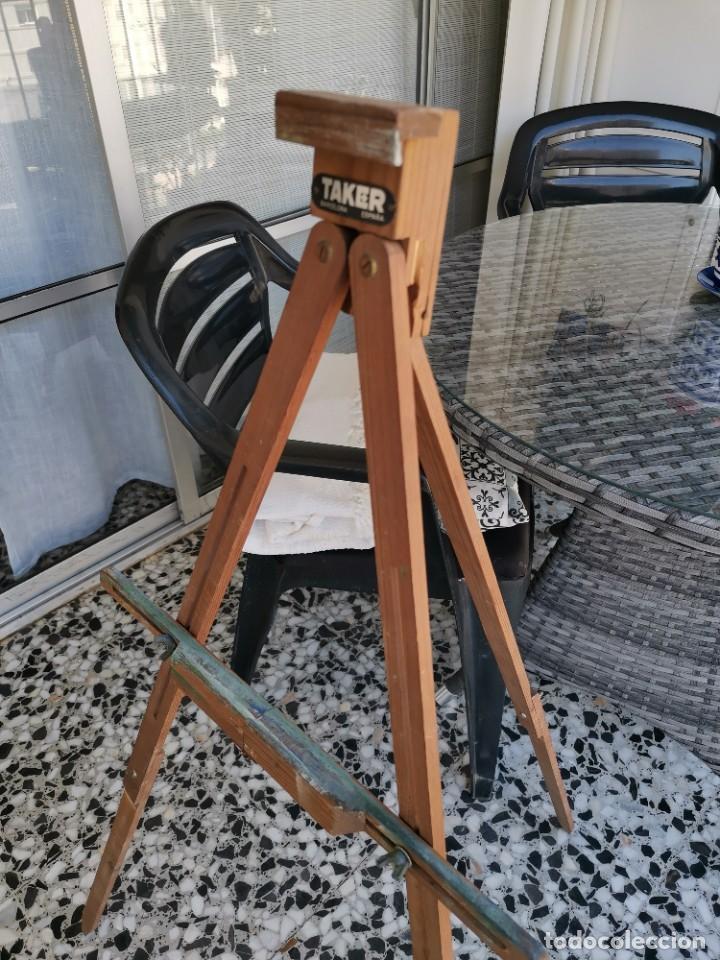 Antigüedades: Caballete Trípode antiguo de pintor Taker - Foto 2 - 221269762