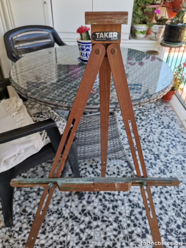 Antigüedades: Caballete Trípode antiguo de pintor Taker - Foto 3 - 221269762