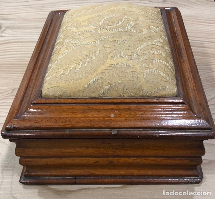Antigüedades: Preciosa caja-costurero, Victoriana de caoba, de mediados de S. XIX. - Foto 3 - 221298456