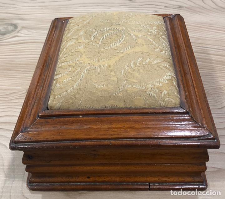 Antigüedades: Preciosa caja-costurero, Victoriana de caoba, de mediados de S. XIX. - Foto 4 - 221298456