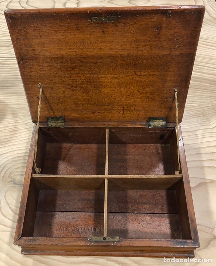 Antigüedades: Preciosa caja-costurero, Victoriana de caoba, de mediados de S. XIX. - Foto 5 - 221298456