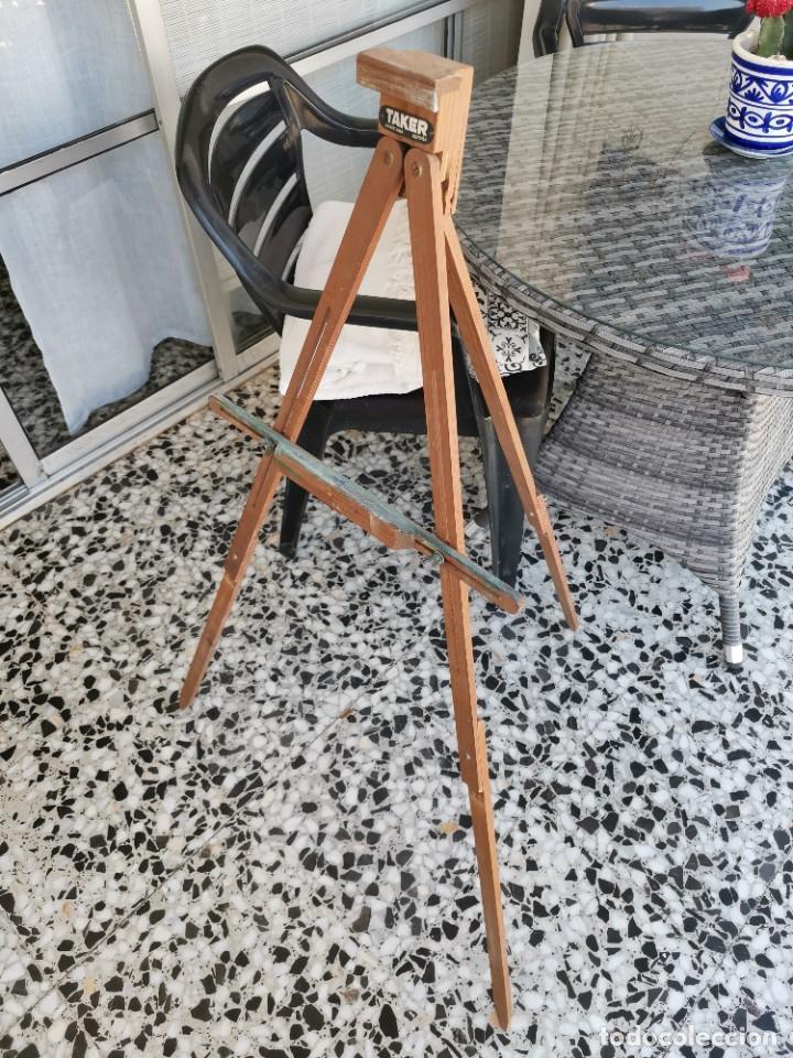 Antigüedades: Caballete Trípode antiguo de pintor Taker - Foto 9 - 221269762