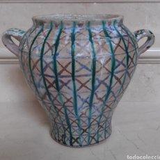 Antigüedades: DE COLECCIÓN, ANTIGUA ORZA TRICOLOR EN CERAMICA DE FAJALAUZA (GRANADA) S.XVIII-XIX. Lote 221352952