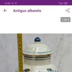 Antigüedades: INCREÍBLE ALBARELO ANTIGUO. Lote 221361547