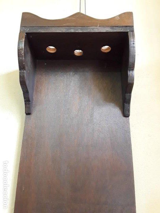Antigüedades: Mueble armero de pared para 3 escopetas - Foto 2 - 221380073