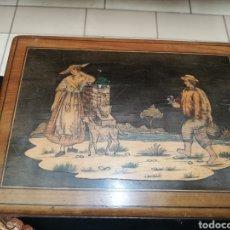 Antigüedades: CAJA MADERA TALLADA .. ORIGEN NÓRDICO.. BUSCADAS. Lote 221384732