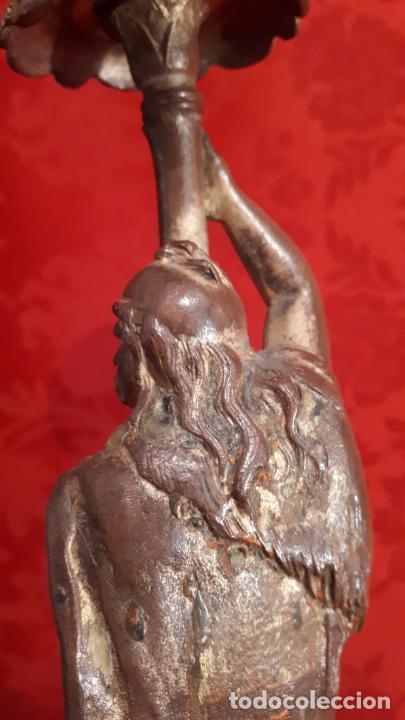 Antigüedades: Pareja de candelabros del siglo XIX. Estaño dorado. - Foto 9 - 221386825
