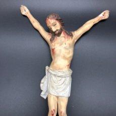 Antigüedades: CRISTO ANTIGUA TALLA DE MADERA. Lote 221391948