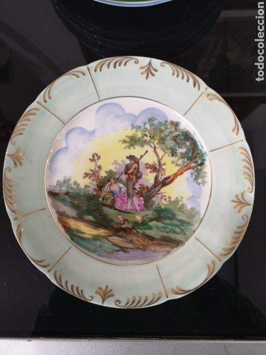 SANTA CLARA PLATO DECORADO. (Antigüedades - Porcelanas y Cerámicas - Santa Clara)