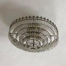 Antigüedades: LAMPARA DE TECHO DE CRISTAL DE BOHEMIA. Lote 221397222
