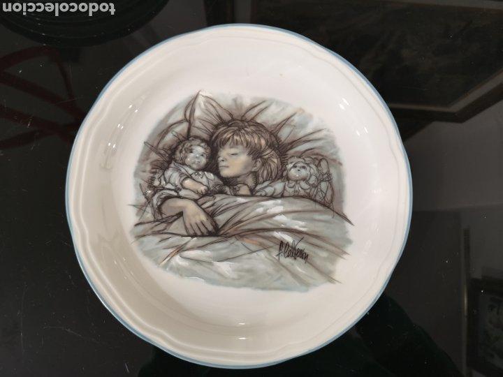 SANTA CLARA PLATO DECORADO FERNANDO CALDERÓN. (Antigüedades - Porcelanas y Cerámicas - Santa Clara)