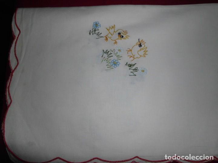 Antigüedades: Antiguo mantel de algodón bordados - Foto 8 - 221412608