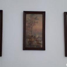 Antigüedades: CUADROS TRIO SIGLO XIX. Lote 221430238