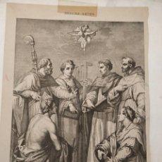 Antigüedades: CONTROVERSIA DE TEÓLOGOS, ALMANAQUE DE LA ILUSTRACION. Lote 221446140