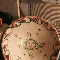 Oggetti Antichi: CUENCO DE TERUEL SIGLO XIX SOL O ROSTRO HUMANO. Lote 221447657