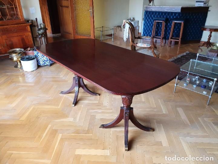 Antigüedades: Preciosa Mesa de comedor estilo Regency Inglés - Foto 2 - 221449513