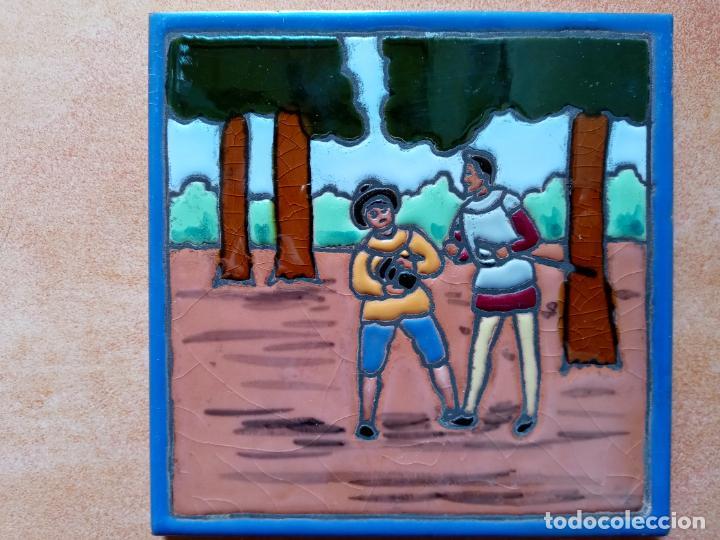 Antigüedades: Azulejos serie el Quijote En un lugar de la Mancha- Mensaque Rogriguez- Triana Sevilla - Foto 3 - 221455311