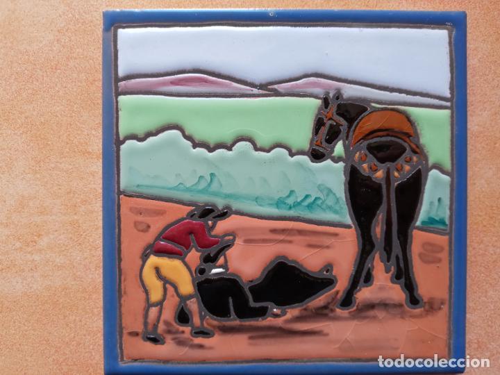 Antigüedades: Azulejos serie el Quijote En un lugar de la Mancha- Mensaque Rogriguez- Triana Sevilla - Foto 4 - 221455311